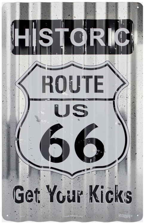 #SP32003 - ROUTE 66 Lg. Corrugated Sign