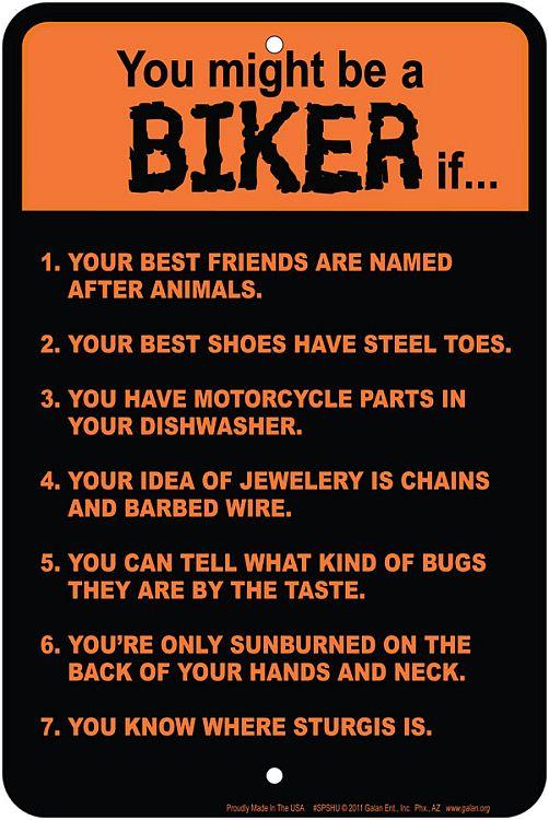 #SPSHU - BIKER/Motorcycle Rules Sm. Parking Sign