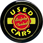 Used Cars 12 in. Round Clock