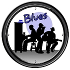 Blues 12 in. Round Wall Clock