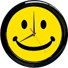 Smiley Face 12 in. Round Clock