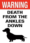 Dog Ankle Biter Magnet