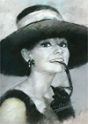 Hepburn In Hat Magnet