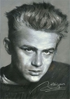 James Dean Portrait Magnet