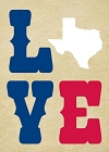 Texas Love Magnet