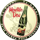Mountain Dew 24 inch Large Round Sign