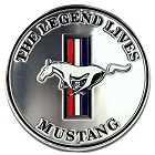 Ford Mustang Silver 24 Inch Round Sign
