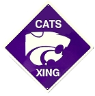 Kansas State - Wildcats Crossing Sign