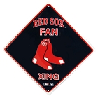 Boston Red Sox Diamond Crossing Sign