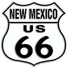 Route 66 NM Shield Sign