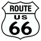 Route 66 US Shield Sign