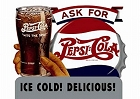 Pepsi Ask For Delicious Metal Sign