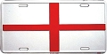 England Flag License Plate