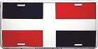Dominican Rep Flag License Plate