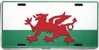 Wales Flag License Plate