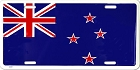 New Zealand Flag License Plate