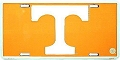 University of Tennessee Orange License Plate