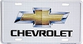 Chevy Logo Silver License Plate
