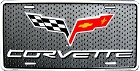 Chevy Corvette Flags License Plate