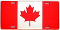 Canada Flag License Plate