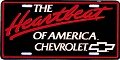 Chevy Heartbeat License Plate