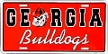 University of Georgia Bulldogs Red License Plate