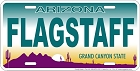 AZ - Flagstaff License Plate