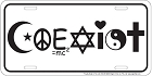 Coexist License Plate