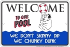 Chunky Dunk Sm. Parking Sign