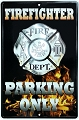 Firefighter Parking Only Large Parking Sign