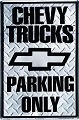 Chevy Truck Large Parking Sign