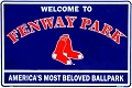 Boston Red Sox - Fenway Park Large Parking Sign