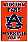 Auburn Tigers Large Parking Sign