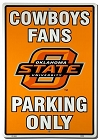 Oklahoma State Cowboys Large Parking Sign