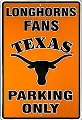 University of Texas Longhorns Parking Sign