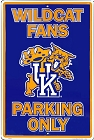 University of Kentucky Wildcats Large Parking Sign