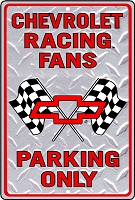 Chevy Racing Sm. Parking Sign