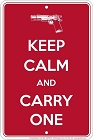 Keep Calm Carry One Sm. Parking Sign