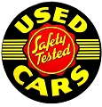 Used Cars Round Sign
