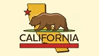 CA State with Bear Sticker