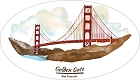 CA Golden Gate Bridge Sticker