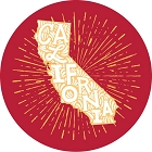 CA State With Starburst Large Sticker
