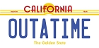 CA Outatime Large Sticker