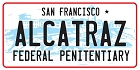 CA Alcatraz Large Sticker