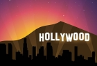CA Hollywood Sign Large Sticker