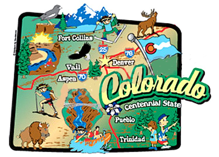 State Map Sticker - Colorado state map