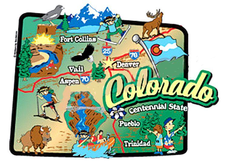 State Map Sticker - Colorado state map