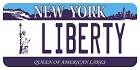 NY Liberty Plate Large Sticker