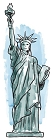 NY Illus. Large Lady Liberty Sticker