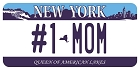 NY #1 Mom Plate Large Sticker